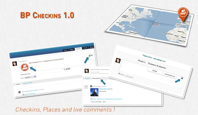 BP Checkins, version 1.0 checked in WordPress Repo !