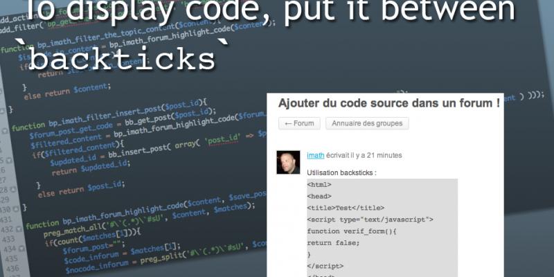 BuddyPress forum et code source